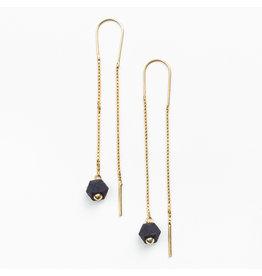 Jacqueline & Compote Hexagone OL Oorbellen  - Blauw