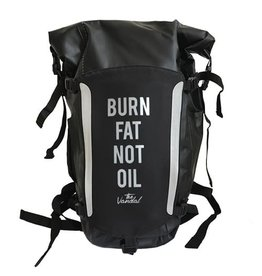 THE VANDAL Waterproof Rugzak Zwart - Burn fat not oil