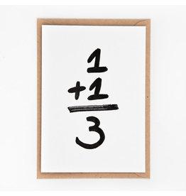 STUDIOFLASH Kaart '1+1=3'