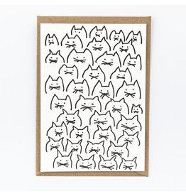STUDIOFLASH Kaart 'cats pattern'