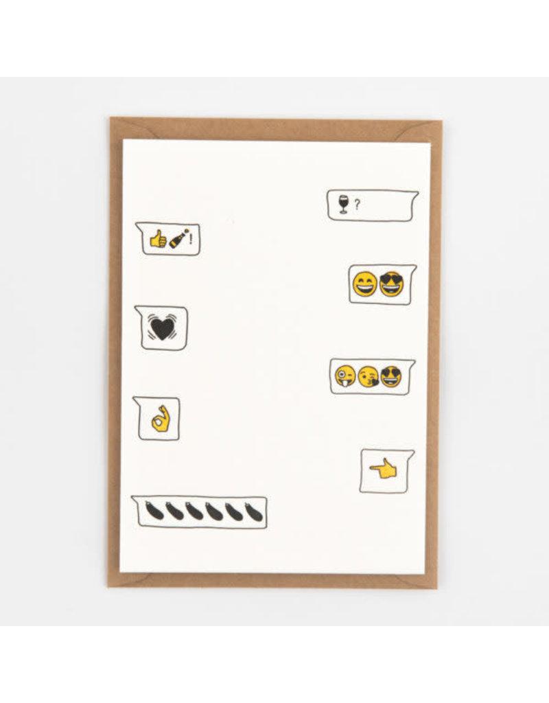STUDIOFLASH Kaart 'Emoji Love'
