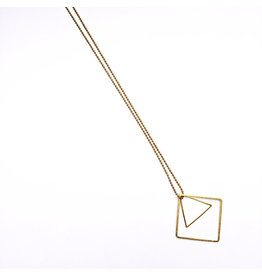 STUDIO PELOEZE Ketting Triangle square duo L