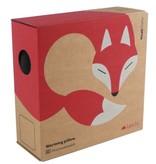 Leschi Verwarmend Kussen Noah the fox - zwart