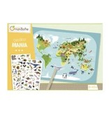 choubidous Creatieve box, Decalco Mania planisphere