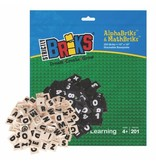 STRICTLY BRIKS Blokjes Cijfers en letters met bord