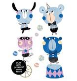 Studioloco Muursticker dieren Circus