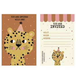 Studioloco Multipack birthday Uitnodiging Leopard 6 st