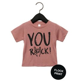 Studioloco T-shirt You rock old roze
