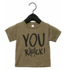 Studioloco T-shirt You rock khaki
