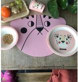 Studioloco Placemat Roze Mevrouw beer