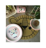 Studioloco Bamboo tafelset Leopard Roze 5 st