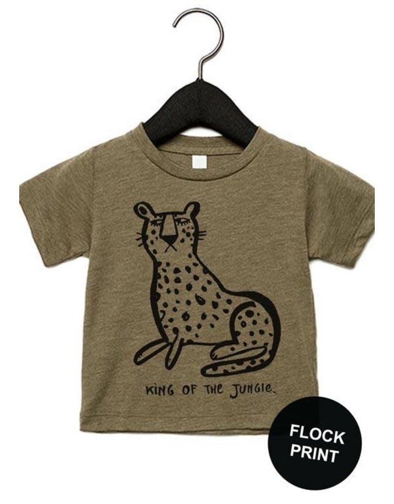 Studioloco T-shirt Leopard Khaki