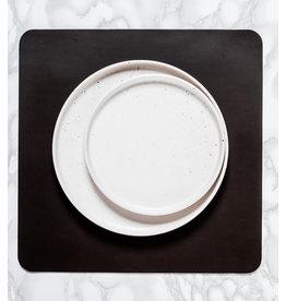 Verstee Leder placemat Poseidon vierkant zwart