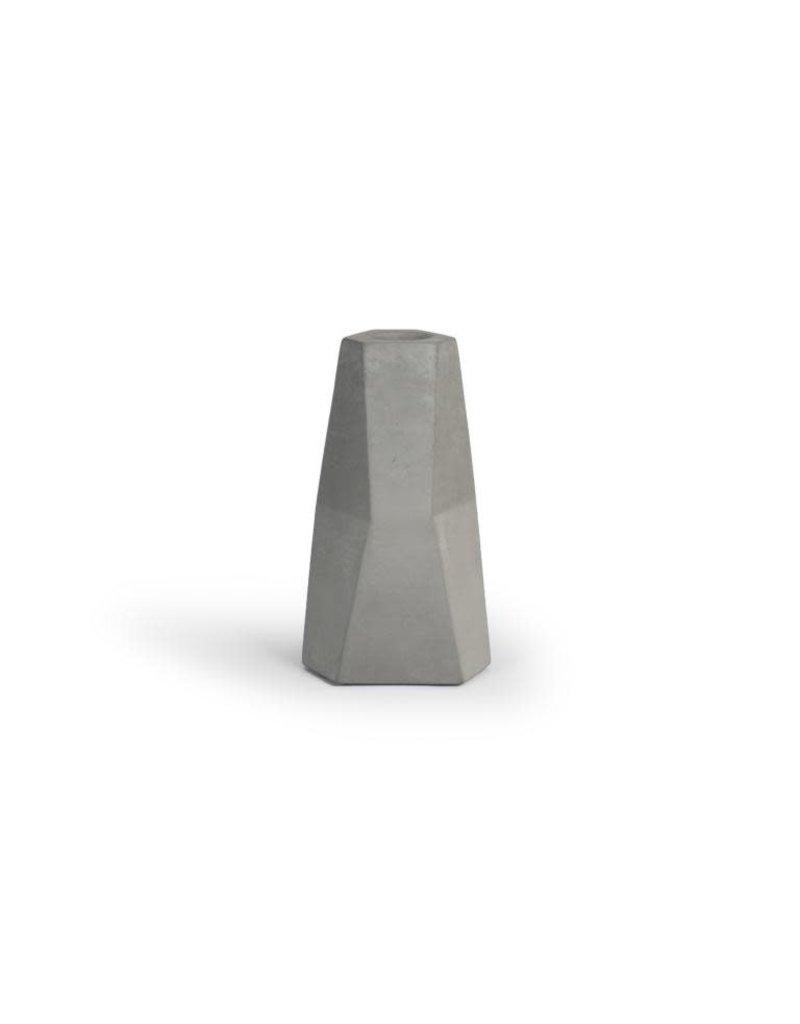 Vanhalst Facet Candle holder natural light grey