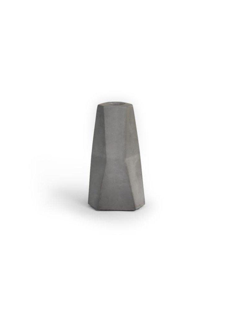 Vanhalst Facet Candle holder dark grey 7x12 cm