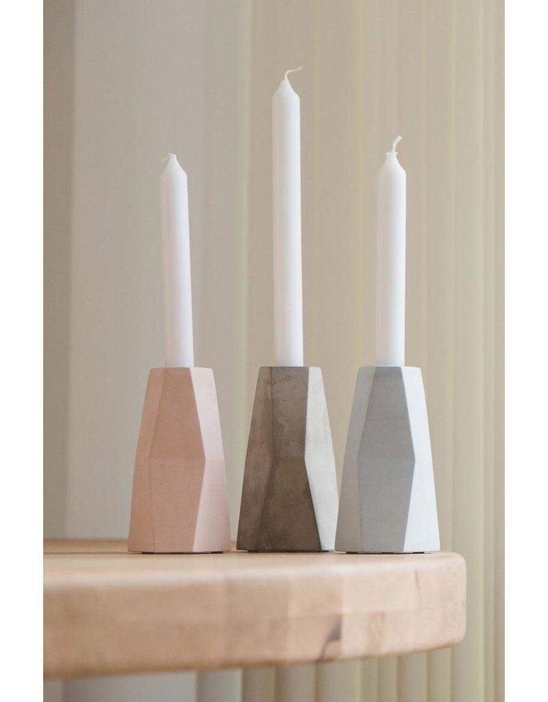 Vanhalst Facet Candle holder eucalyptus