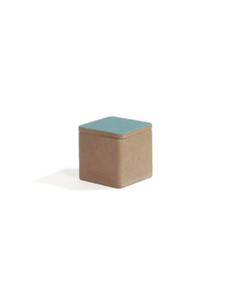 Vanhalst Box Hout Kubus Palm Blauw 5x5x5 cm