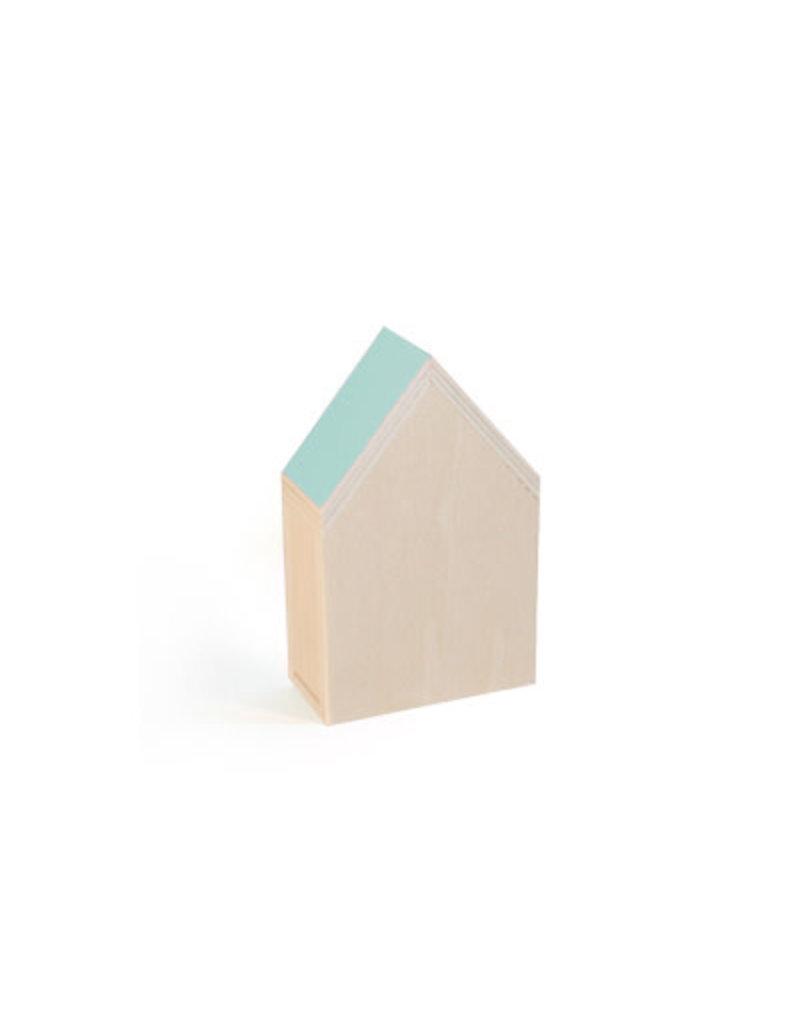 Vanhalst N+ Huisje Aqua 12x19,2x6,5 cm