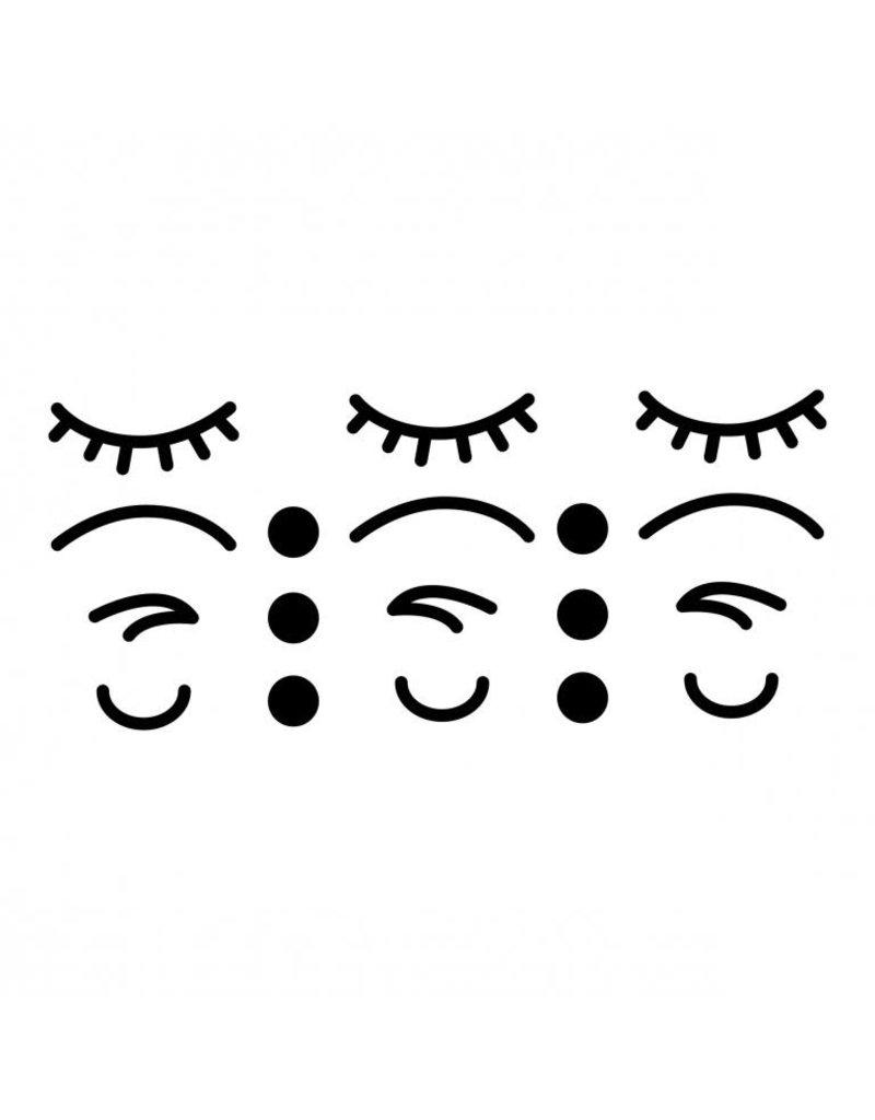 Vanhalst Sticker iconen gezicht zwart