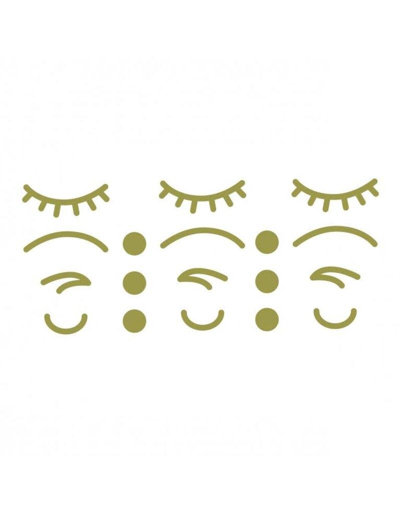 Vanhalst Sticker iconen gezicht goud