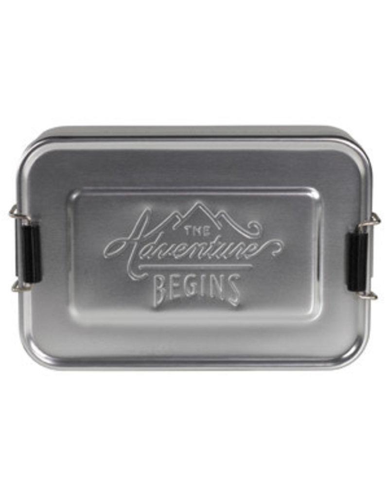CORTINA Small Silver Aluminium Lunch Tin