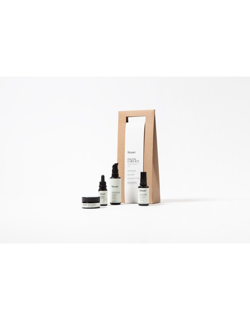 Likami Facial Care Kit (cleansing milk 50ml / facial toner 30ml / facial serum 15ml / facial cream 30ml)