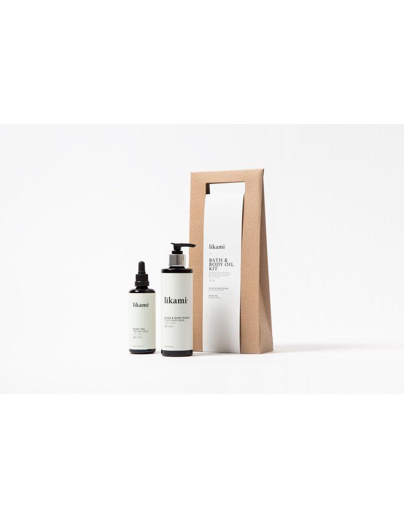 Likami Bath & Body Oil Kit (hand- & bodywash cham-lav 250ml / body oil 100ml)