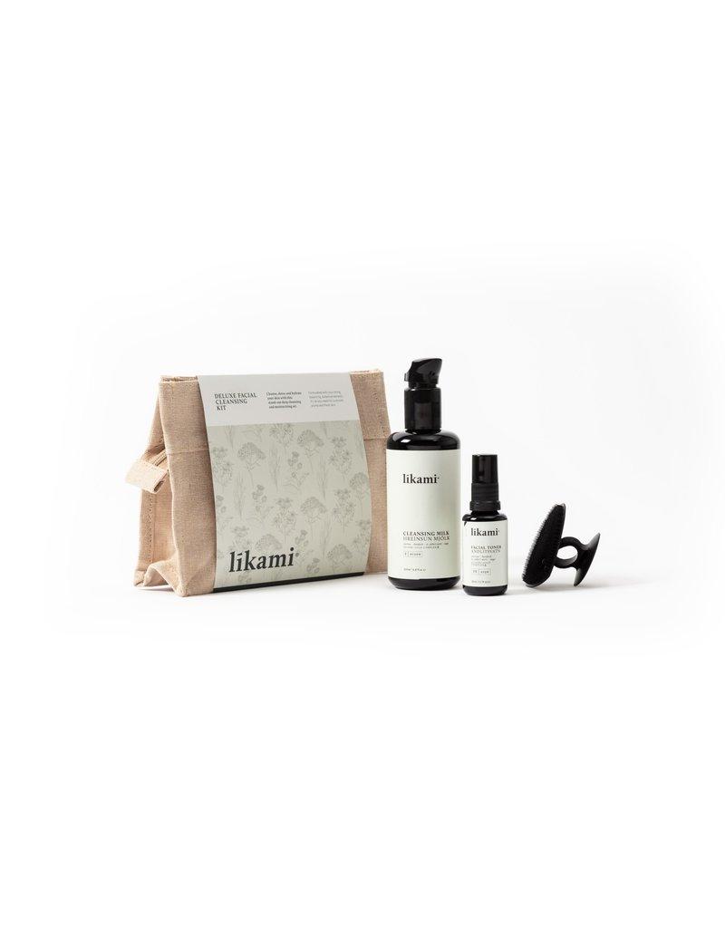 Likami Deluxe Facial Cleansing Kit (toiletbag with cleansing milk 200ml / facial cleansing pad/ facial toner 30ml)