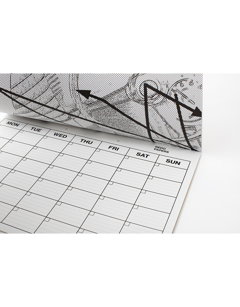 REDO PAPERS Monthly planner 33x48 cm