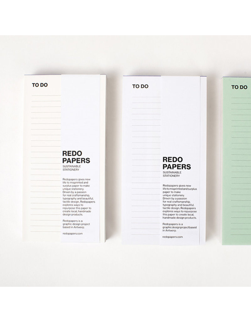 REDO PAPERS To do list 18x9 cm