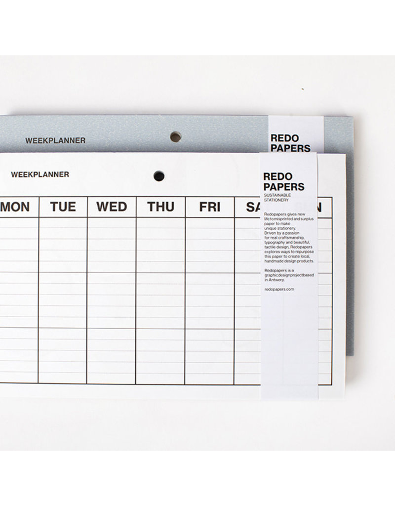 REDO PAPERS Weekly Planner 18x27 cm (60 pages)