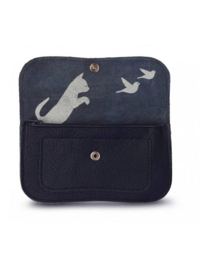 KEECIE Portemonnee Cat Chase Medium Ink blue