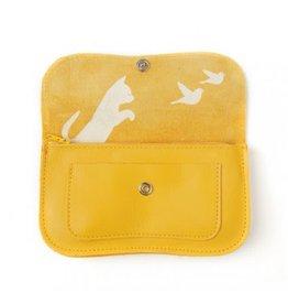 KEECIE Portemonnee Cat Chase Medium Yellow