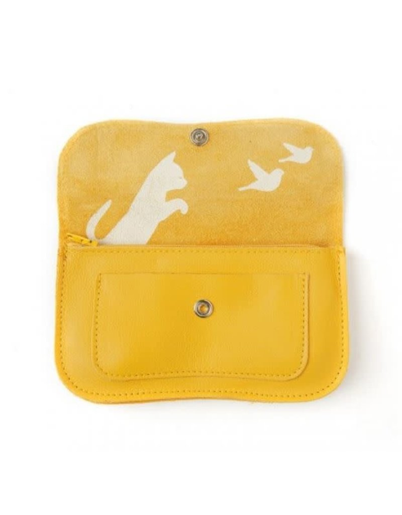 KEECIE Portemonnee Cat Chase Medium Yellow
