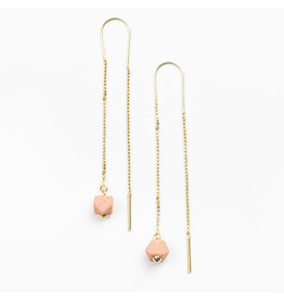 Jacqueline & Compote Oorketting - Facet sling - Roze