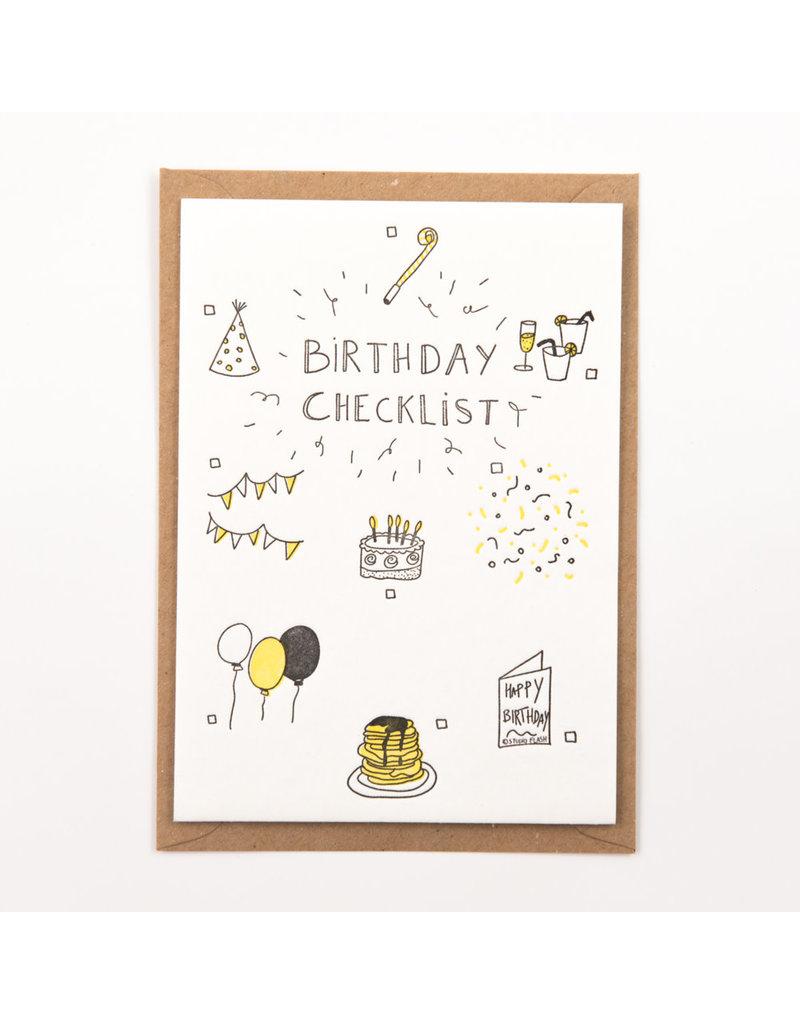 STUDIOFLASH Kaart 'Birthday checklist'