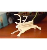 Rendier 12cm Natural wood