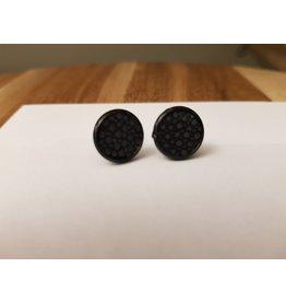 Maison Delclef Oorsteker zwart- roggeleder zwart