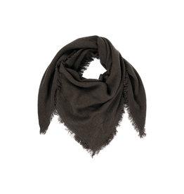 Zusss Vierkante sjaal gewafeld zwart