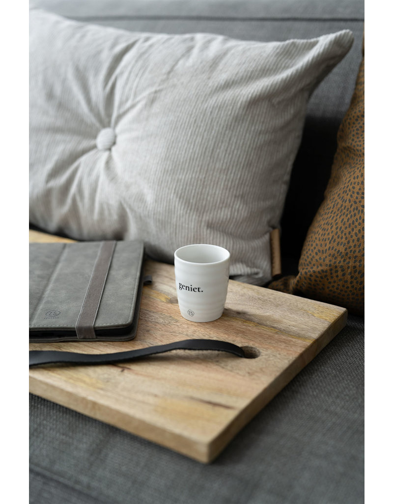 Zusss Espresso kopje 'Geniet'