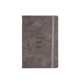 Zusss Notitieboek 'Droom' kleigrijs