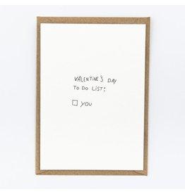 STUDIOFLASH Kaart 'To do list - Valentine'
