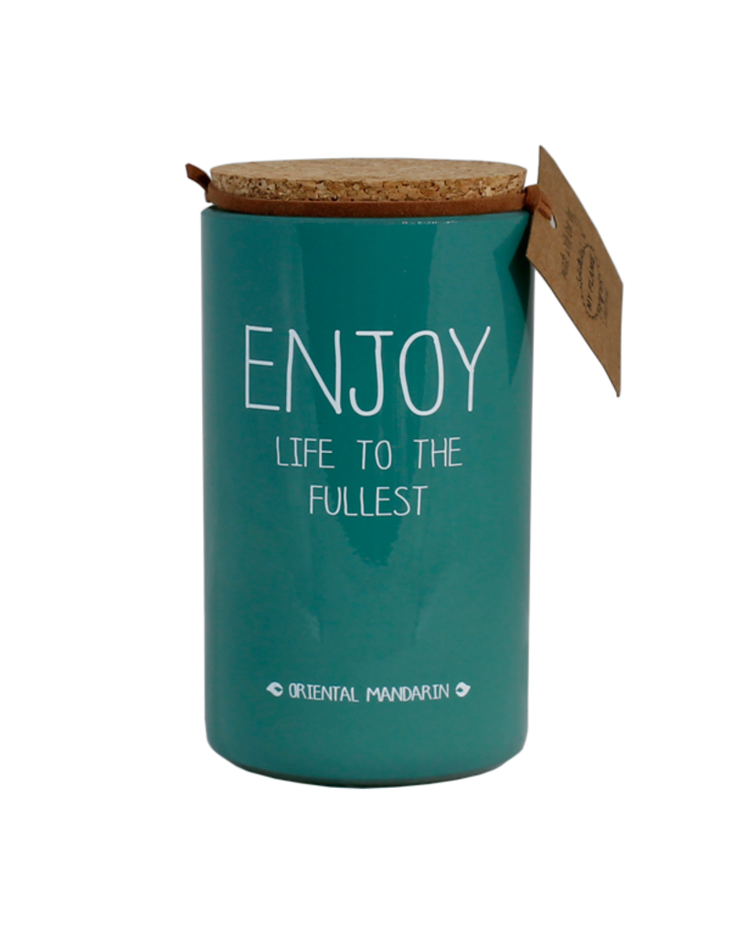 My Flame Lifestyle Geurkaars - 'Enjoy life to the fullest'