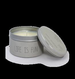 My Flame Lifestyle Geurkaars - 'Life is fun'
