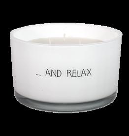 My Flame Lifestyle Geurkaars - 'And relax' - 3 wieken