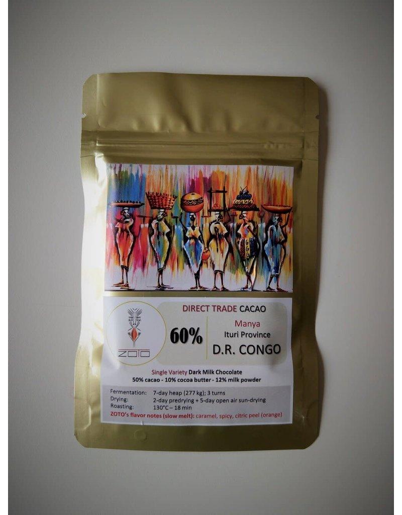 ZOTO D.R. Congo - Manya - 60% dark milk chocolate