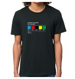 THE VANDAL T-shirt - Colours of cycling - zwart