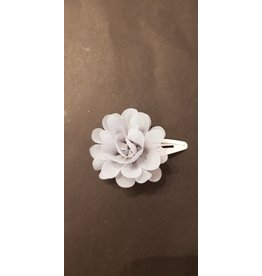 La Petite Rooze Haarspeld bloem tule blauw-grijs
