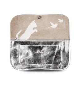 KEECIE Portemonnee Cat Chase Medium zilver