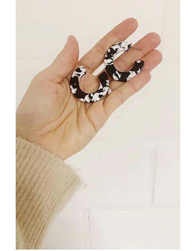 STUDIO PELOEZE Oorringen Black white ring